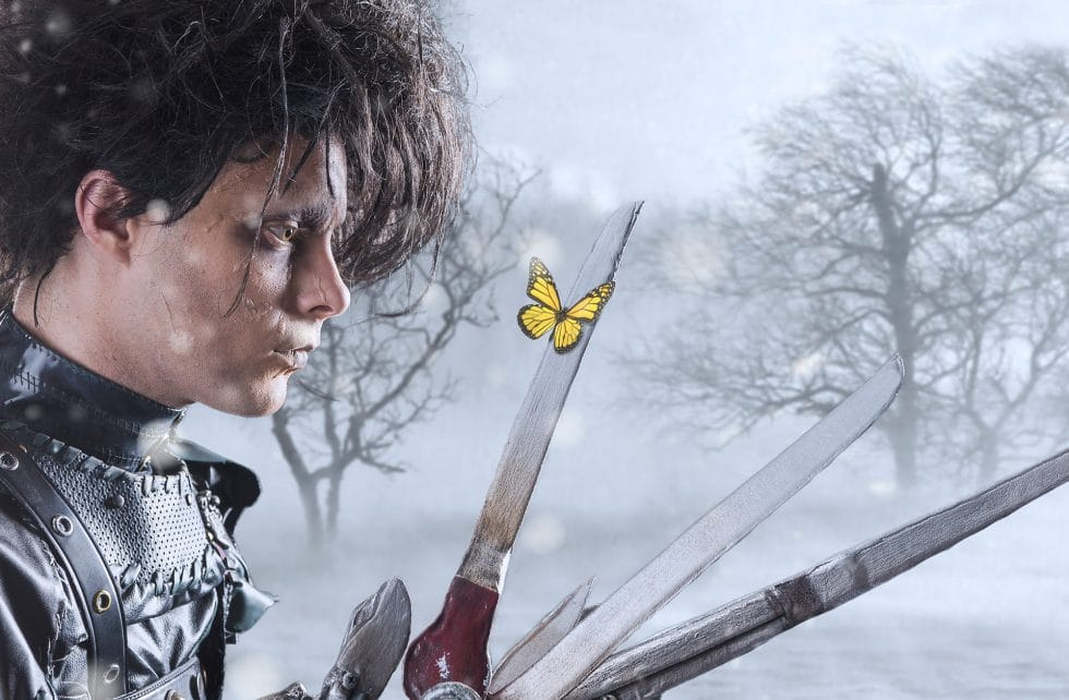 edward scissorhands costume cosplay photo